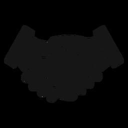 Ícone de silhueta de aperto de mão