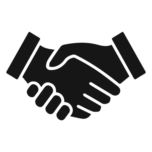 Handshake silhouette icon Transparent PNG