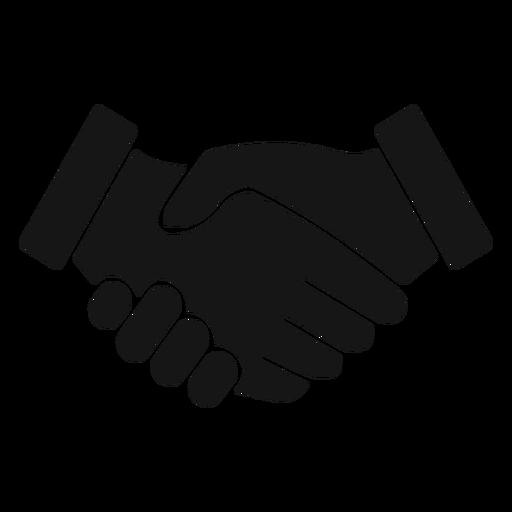 Icono de silueta de apretón de manos