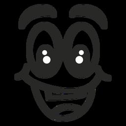 Glückliches Emoticon Gesicht