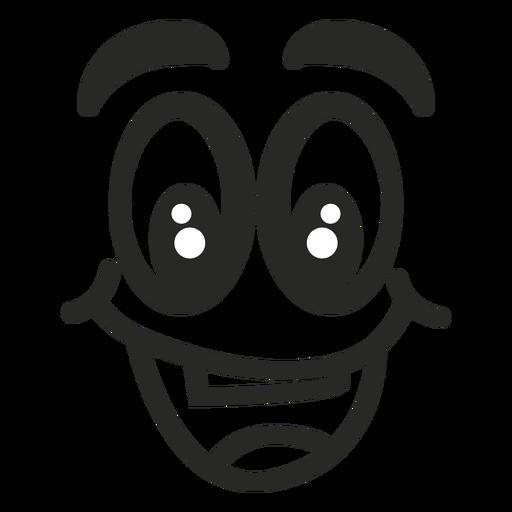 Cara de emoticon feliz Transparent PNG