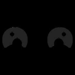 Ojos de emoticonos kawaii felices