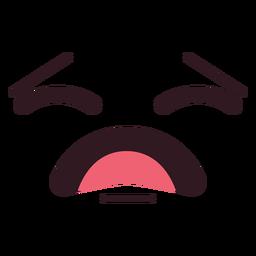 Hurt emoticon face flat