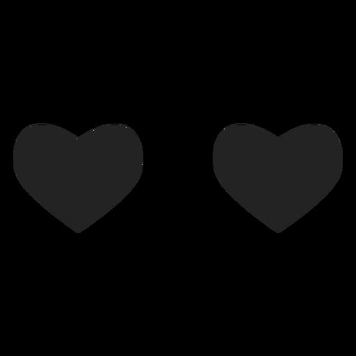 Inlove emoticon corazón ojos Transparent PNG