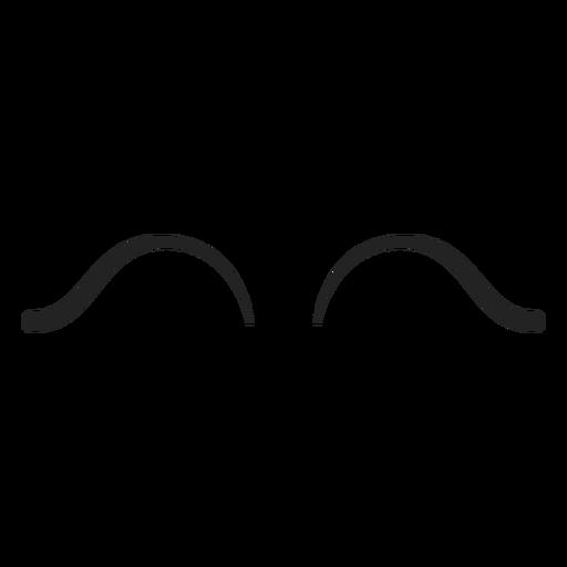 Isolierte Emoticon geschlossene Augen Transparent PNG