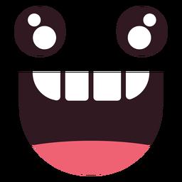 Kawaii beißen Emoticon Gesicht