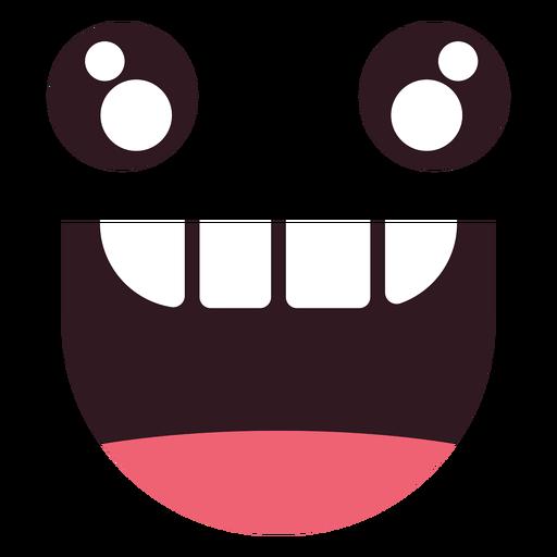 Cara de emoticon de mordida kawaii