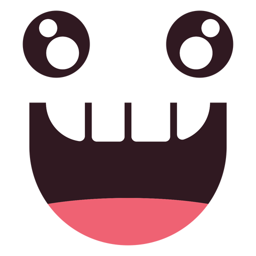 Kawaii bite emoticon face Transparent PNG