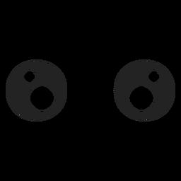Olhos de emoticon de kawaii