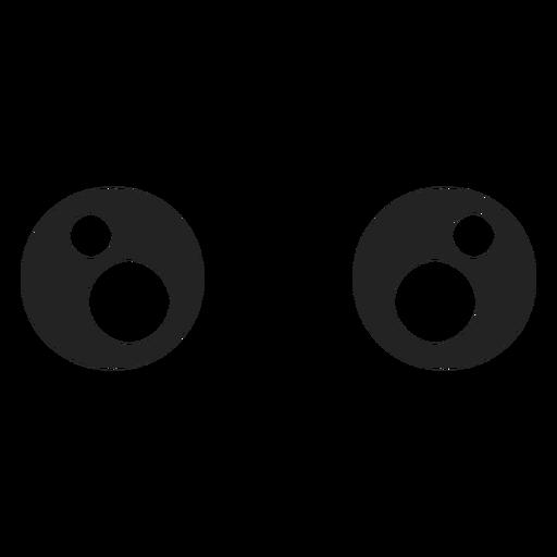 Kawaii Emoticon Augen Transparent PNG