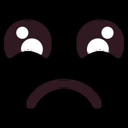 Cara de emoticon frunciendo el ceño kawaii