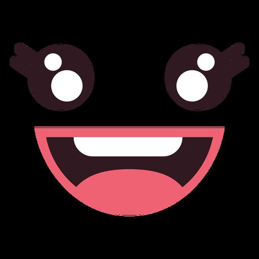 Cara De Emoticon Feminino Feliz Kawaii Baixar Png Svg Transparente