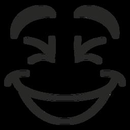 Rindo rosto de emoticon