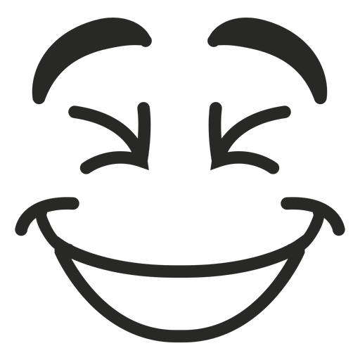 Laughing emoticon face Transparent PNG
