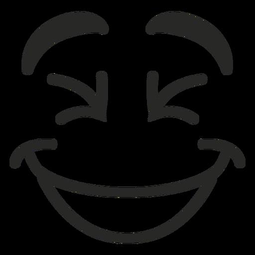 Rindo rosto de emoticon Transparent PNG
