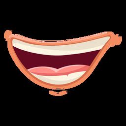 Rindo, boca, ilustração