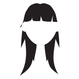Layered Pony Haar Silhouette