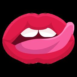 Icono de la boca lamiendo labios