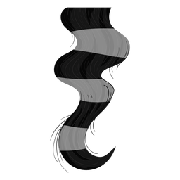 Bloqueio de cabelo encaracolado