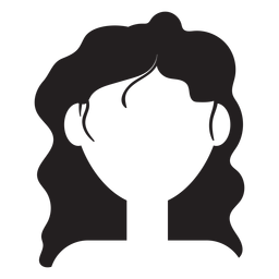 Long wavy hair silhouette