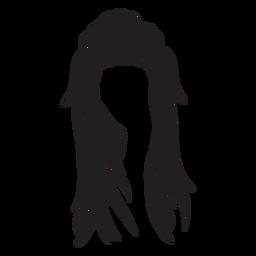 Icono de pelo de mujer larga