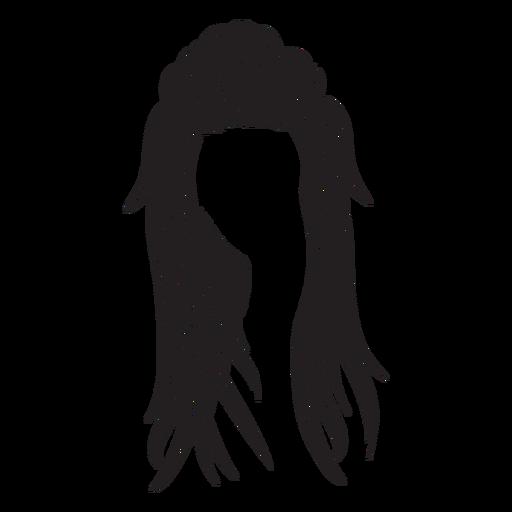 Ícone de cabelo comprido de mulher