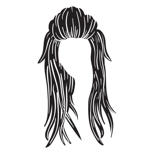 Long woman hair icon Transparent PNG