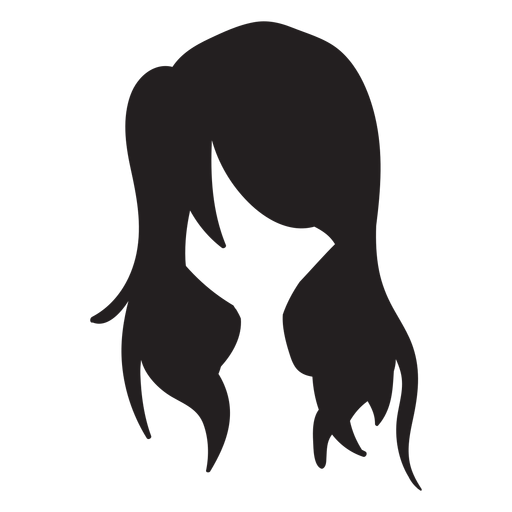 Loose woman hair flat Transparent PNG