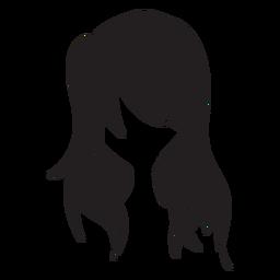 Solto, mulher, cabelo, ícone