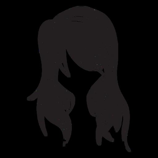 Icono de pelo de mujer suelta Transparent PNG