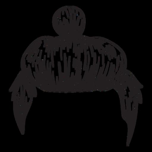 Man bun hair hand drawn Transparent PNG