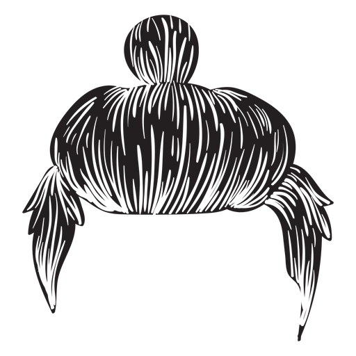 Man bun hair icon Transparent PNG