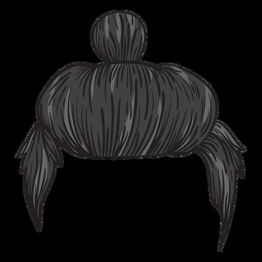 Homem, coque, cabelo, ilustração Transparent PNG