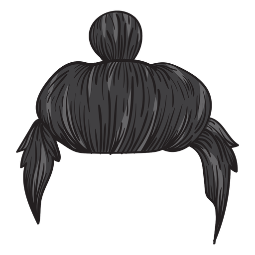Man bun hair illustration