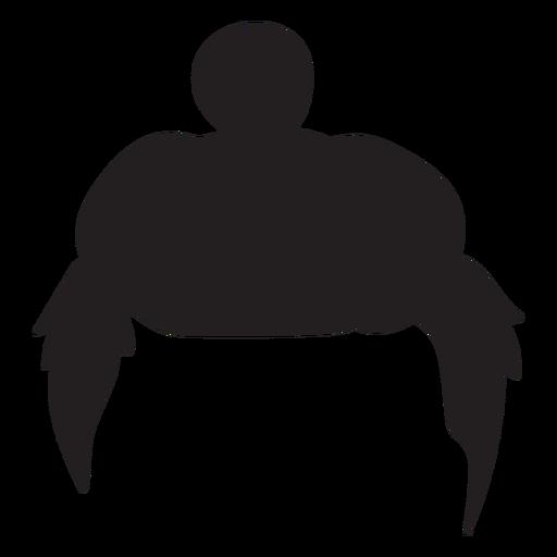 Man bun hair silhouette Transparent PNG