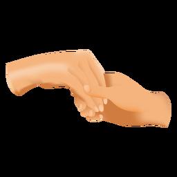 Homem, segurando, mulher, mão