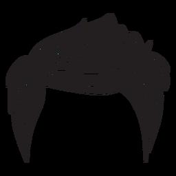 Männer-Frisur-Symbol