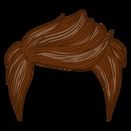 Ilustración de estilo de cabello de hombres