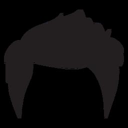 Silueta de estilo de pelo de hombres