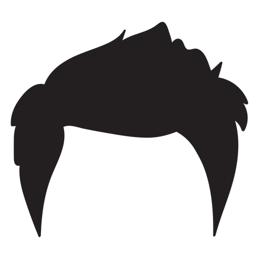 Men hair style silhouette