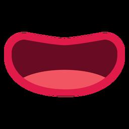 Mund isoliert Symbol