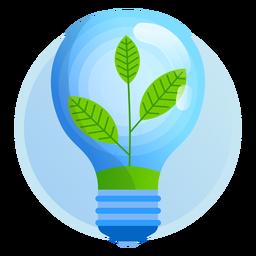 Icono de bombilla de luz de naturaleza