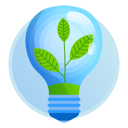Nature light bulb icon