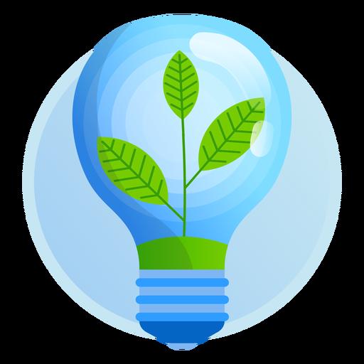Icono de bombilla de luz de naturaleza Transparent PNG