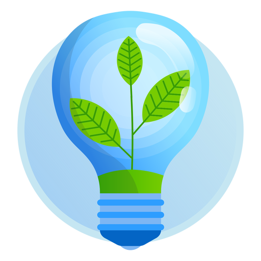 Nature light bulb icon Transparent PNG