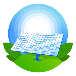 Icono de panel solar de naturaleza