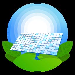 Natur-Solarpanel-Symbol