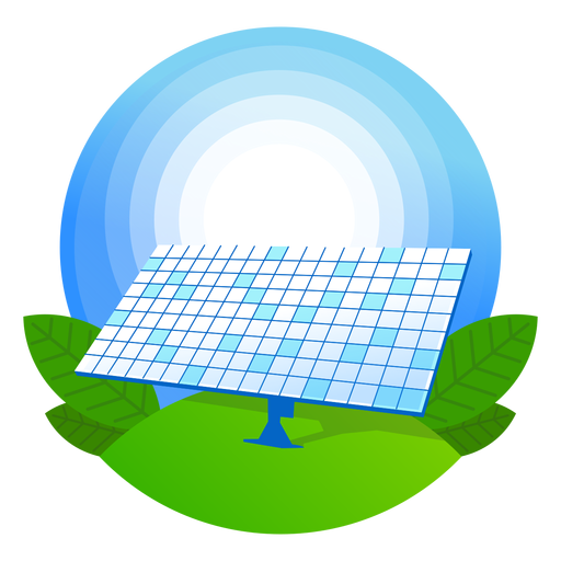 Icono de panel solar de naturaleza Transparent PNG