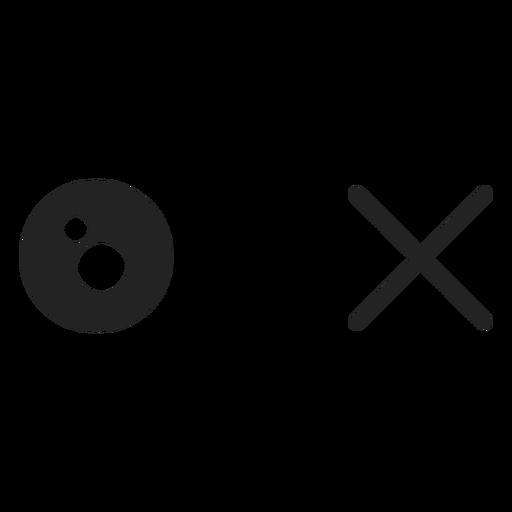 Ein Auge kreuzte Emoticon-Augen Transparent PNG