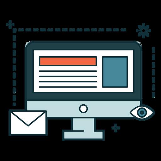 Banner de marketing online Transparent PNG